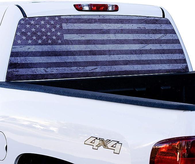FLAGWIX Truck Decals-U.S Army Veteran Truck Tailgate Decal Sticker Wrap PN484TD 66x26 Bumper Stickers Graphics for Car Trucks SUV