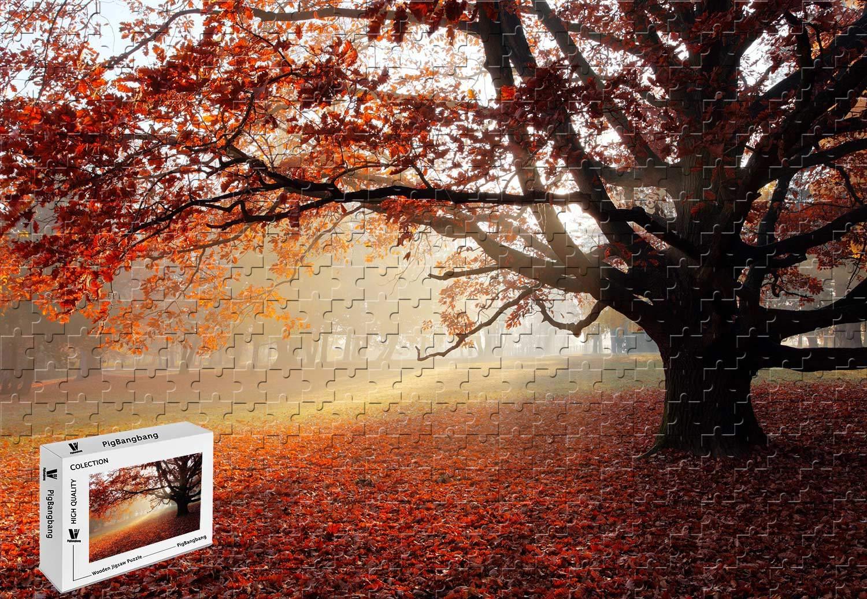 大特価放出! PigBangbang、20.6 X X 15.1インチ、手作り知育ゲームプレミアム木製DIYジグソーグルースナイスペインティング-秋の公園のロンリーリーツリーレッドリーフサン-500ピースジグソーパズル B07GPCJFJN B07GPCJFJN, フジマルツ醤油:ccb9de8f --- a0267596.xsph.ru