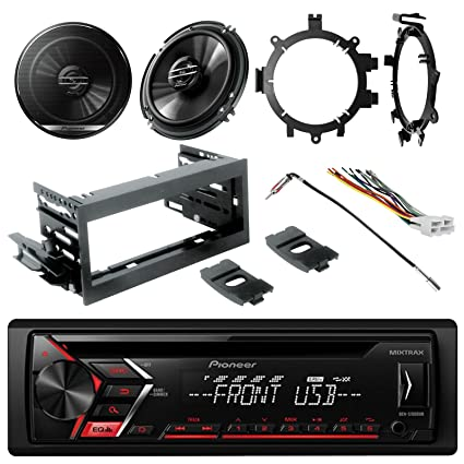Amazon com: New Pioneer DEH-S1000UB CD Single-DIN AM/FM Car