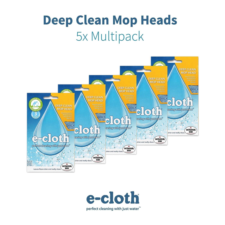 E-cloth Deep Clean Mop Head-5 Pack, Blue, 46x13.5cm: Amazon.co.uk: Kitchen  & Home