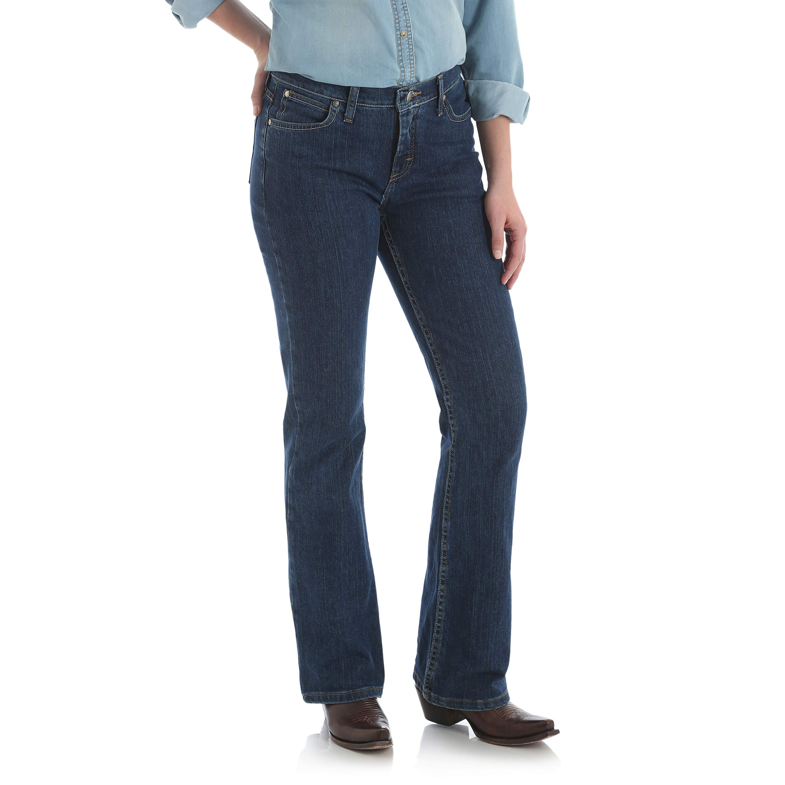 Wrangler Women's As Real As Classic Fit Bot Cut Red