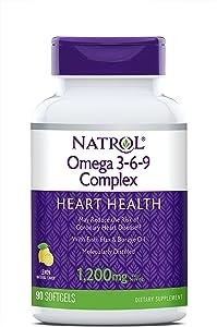 Natrol Omega 3-6-9 Complex Softgels, 1,200mg, 90-Count
