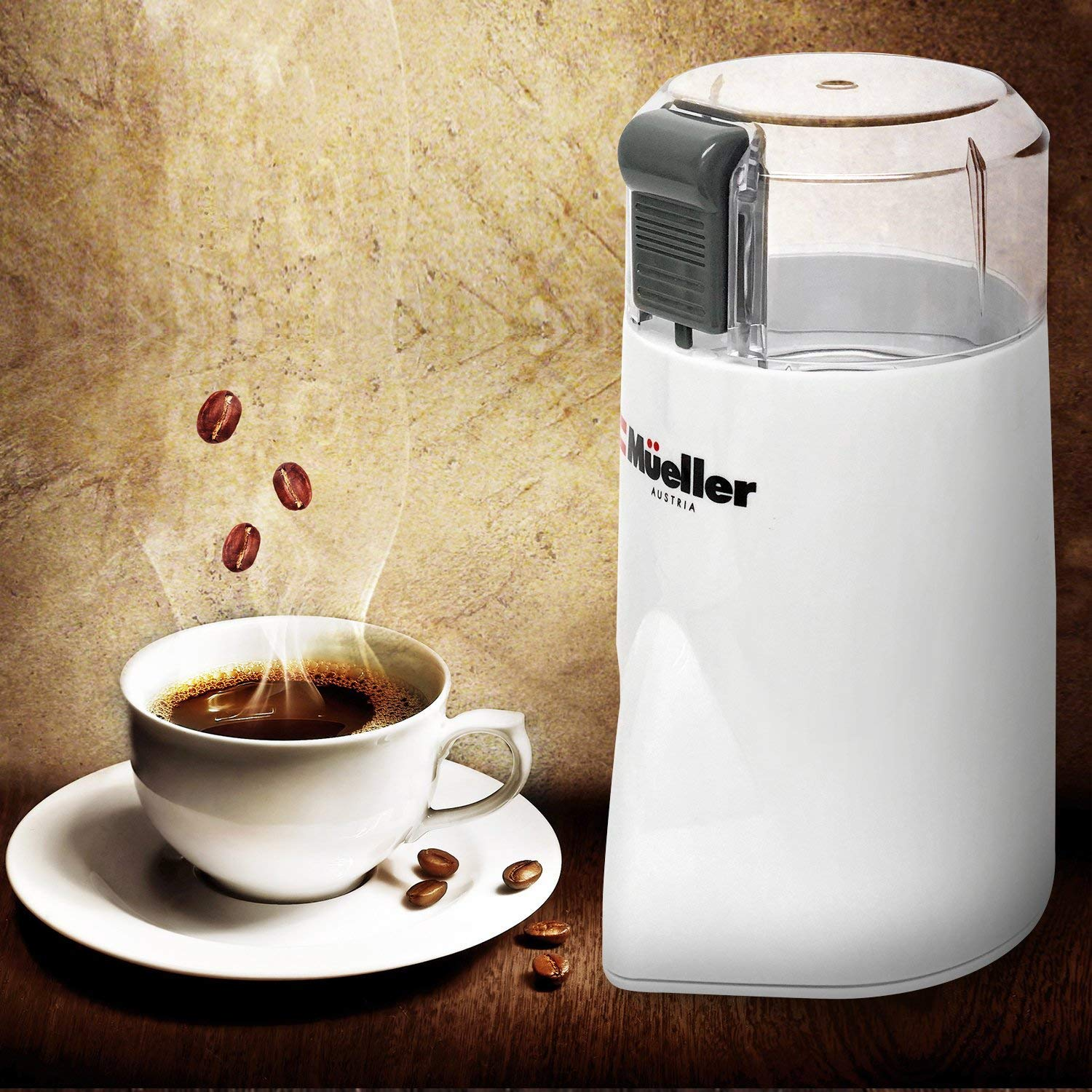 Mueller HyperGrind Precision Electric Coffee Grinder Mill with Large Grinding Capacity and HD Motor also for Spices, Herbs, Nuts, Grains and More by Mueller Austria (Image #2)