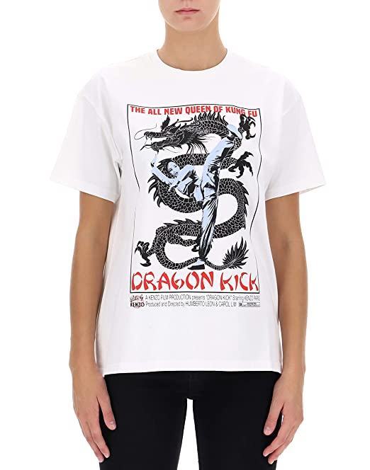 Kenzo Mujer F862ts75898501 Blanco Algodon T-Shirt