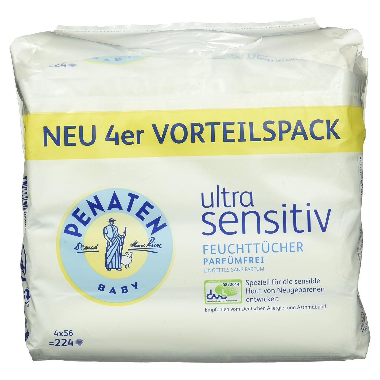 Penaten Ultra Sensitiv Tü cher parfü mfrei 4 x 56er 41480