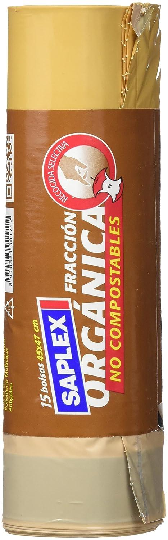 Saplex - Bolsas de Basura Organica, 15 bolsas: Amazon.es ...