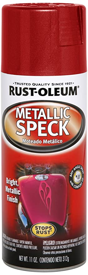 Rust-Oleum Automotive 251598 11-Ounce Metallic Speck Spray, Red