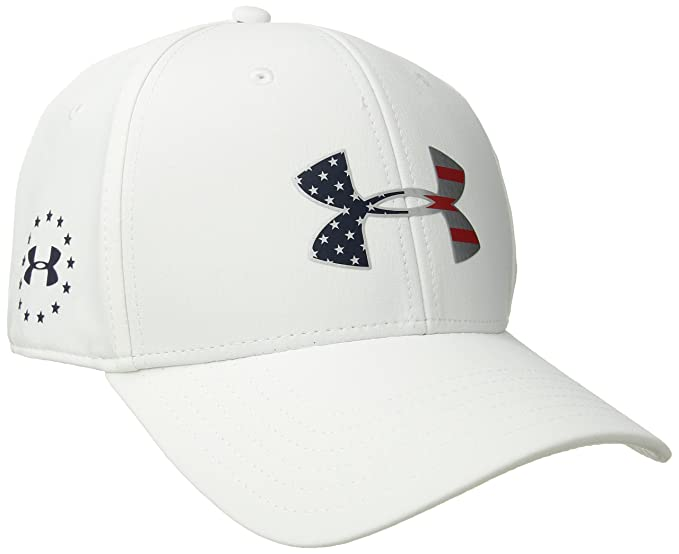 reputable site 9481c fe7cb Under Armour Mens Freedom Low Crown Strech Fit Cap, White (100) Midnight