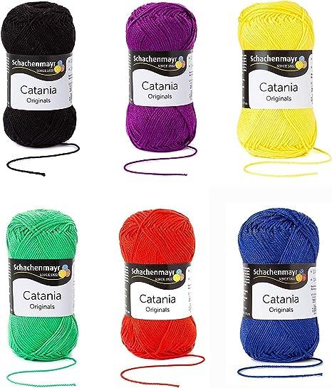 Schachenmayr since 1822 9801210-SET06 Hilo para tejer a mano, 100% algodón, Mezcla de colores básicos, talla única: Amazon.es: Hogar