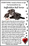 "Staffordshire Bull Terrier Lover ( I Learned from my Staffordshire Bull Terrier) Gift - Large Fun flexible Fridge Magnet- size 16cms x 10 cms (approx. 6"" x4"")"