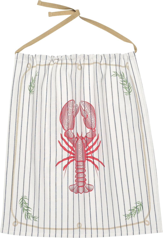 Now Designs Reusable Cotton Lobster Bib, Lobster Catch Design