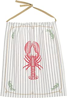 Now Designs Reusable Cotton Bib, Lobster Catch Design
