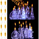 KZOBYD 10 Pack 20 LED Wine Lights with Cork Flickering Battery Lights in Bottles Waterproof Fairy String Lights for Wine…