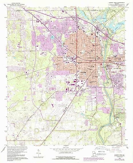 Map Of West Georgia.Amazon Com Yellowmaps Albany West Ga Topo Map 1 24000 Scale 7 5