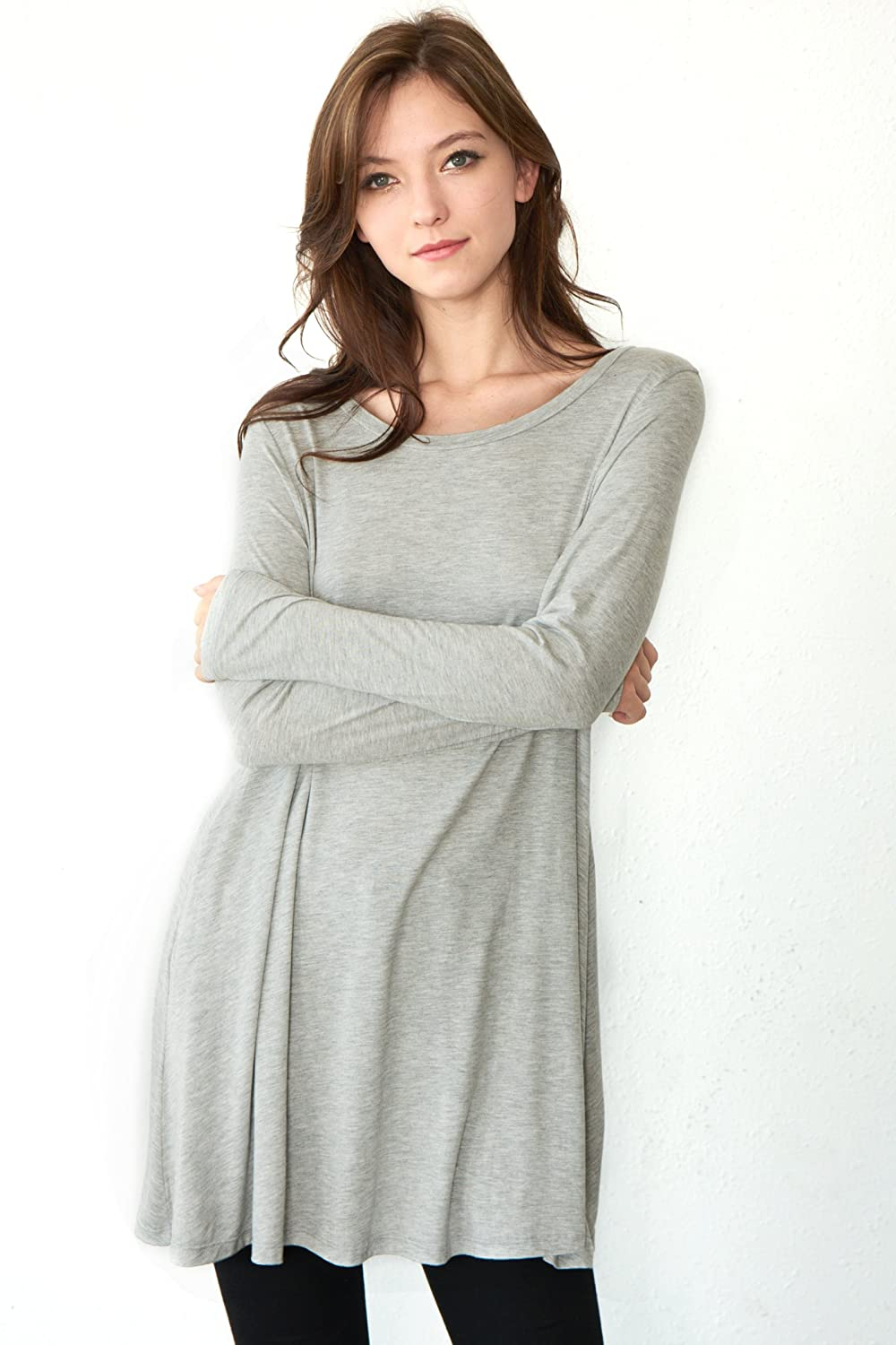 1662db2f55f5e Cameo   Myth Women s Sleeve Easy Wear Jersey Tunic Dress with Side Pocket  at Amazon Women s Clothing store