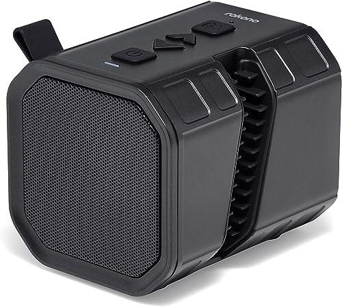 Rokono Bass Sidewinder Bluetooth Speaker with Cell Phone Holder Grip for iPhone Samsung – Black