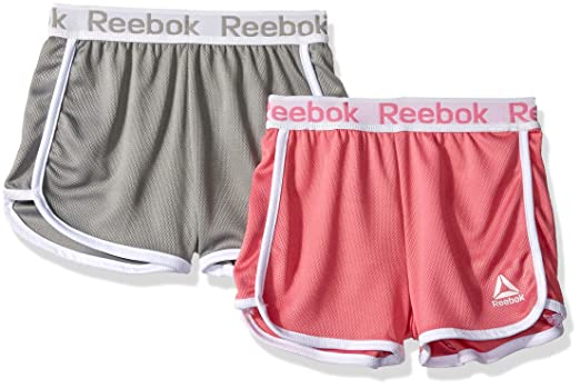 fd777f0d5c15 Amazon.com  Reebok Girls  2 Pack Pro Short Set  Clothing