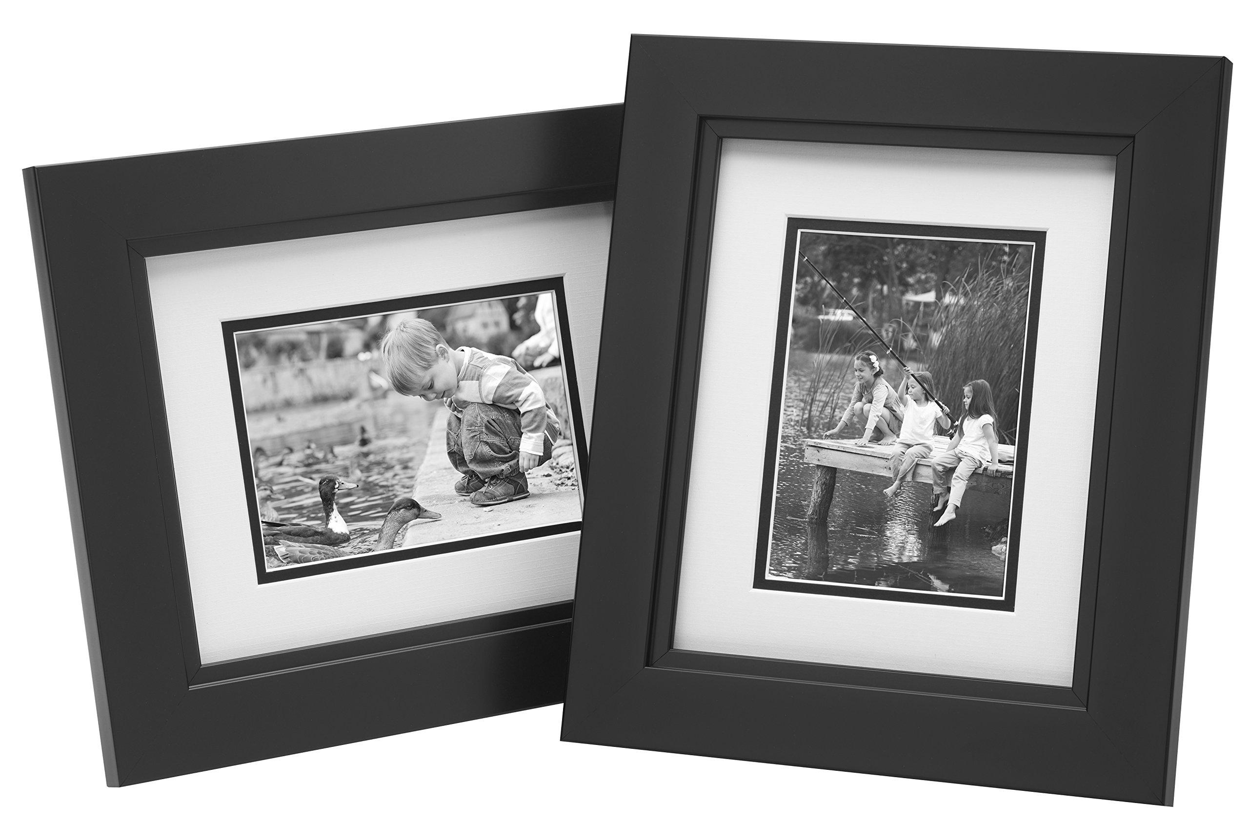 Old Town 2pk 8x10 Designer Frames, Black Studio