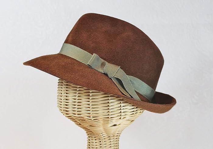 9f035c332f1 Amazon.com  Custom Made Bacall Velour Felt Fedora Hat  Handmade