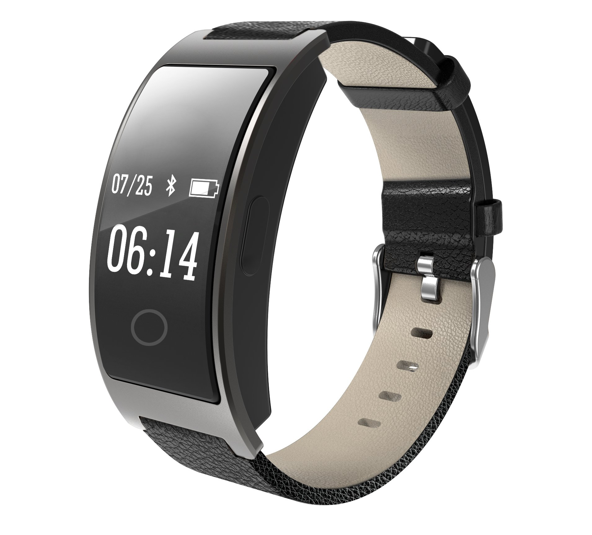 Hangang Smart bracelet CK11s Smart bluetooth watch band Sport watch IP67 waterproof blood pressure heart rate monitor step reminder for ios Android (black)