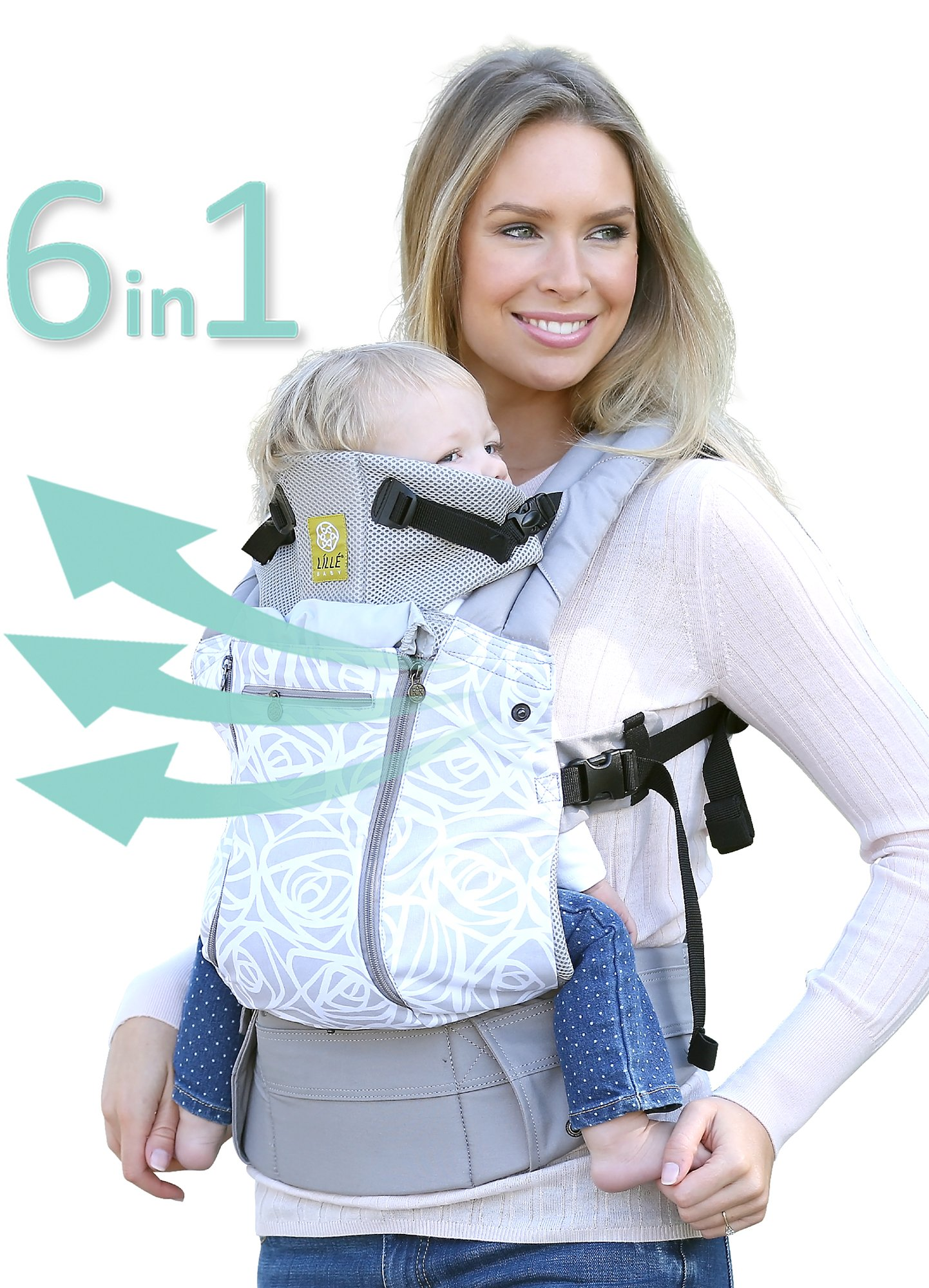 SIX-Position, 360° Ergonomic Baby & Child Carrier by LILLEbaby – The COMPLETE All Seasons (Grey/ Frosted Rose)