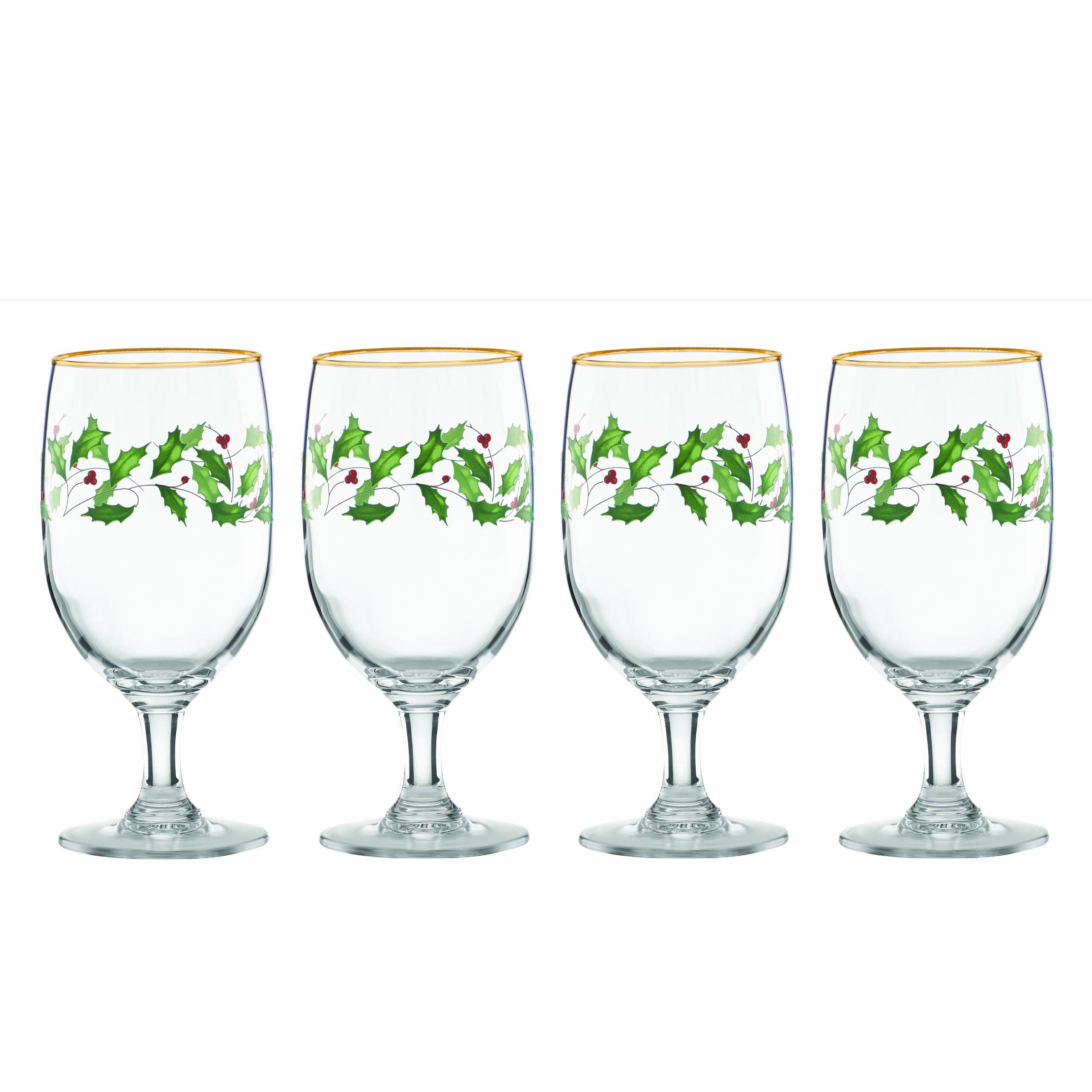 Lenox Holiday Iced Beverage Glasses, Set of 4