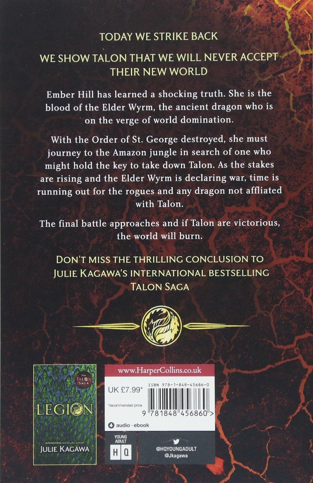 Inferno (The Talon Saga) [Paperback] [Jan 01, 2018] Julie Kagawa: Julie  Kagawa: 9781848456860: Amazon.com: Books