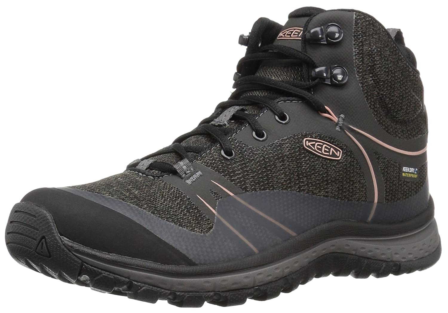 KEEN Women's Terradora Mid Waterproof Hiking Shoe B01H8GII1G 10.5 B(M) US|Raven/Rose Dawn
