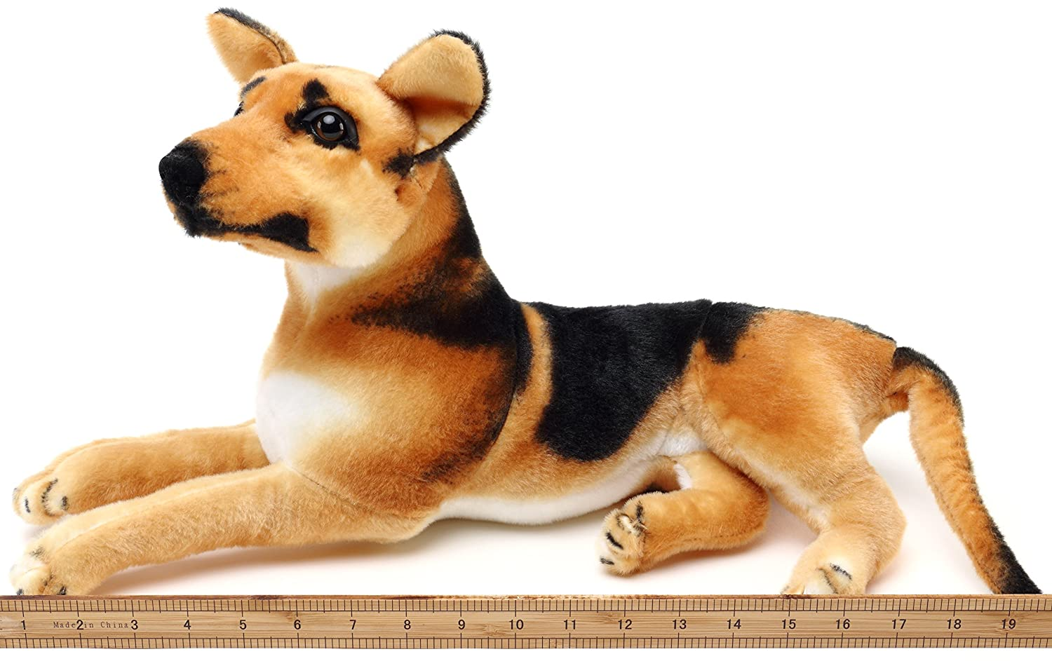 amazoncom hero the german shepherd   inch stuffed animal  - amazoncom hero the german shepherd   inch stuffed animal plush dog by tiger tale toys toys  games