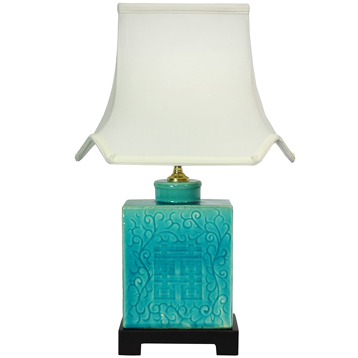 Amazon oriental furniture 20 turquoise porcelain lamp home amazon oriental furniture 20 turquoise porcelain lamp home kitchen geotapseo Gallery