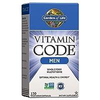 Garden of Life Vitamin Code Whole Food Multivitamin for Men - 120 Capsules, Vitamins...