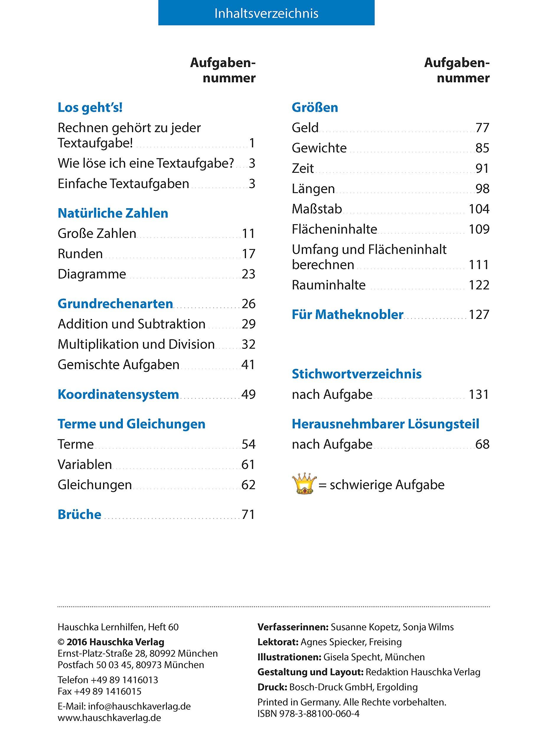 Textaufgaben Mittel-/Hauptschule 5. Klasse: 9783881000604: Amazon ...