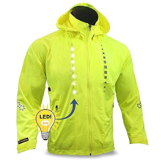 KwikSafety Racer   Road Bike Jacket   Hi Vis Street Bike Jacket LED Light  Strips