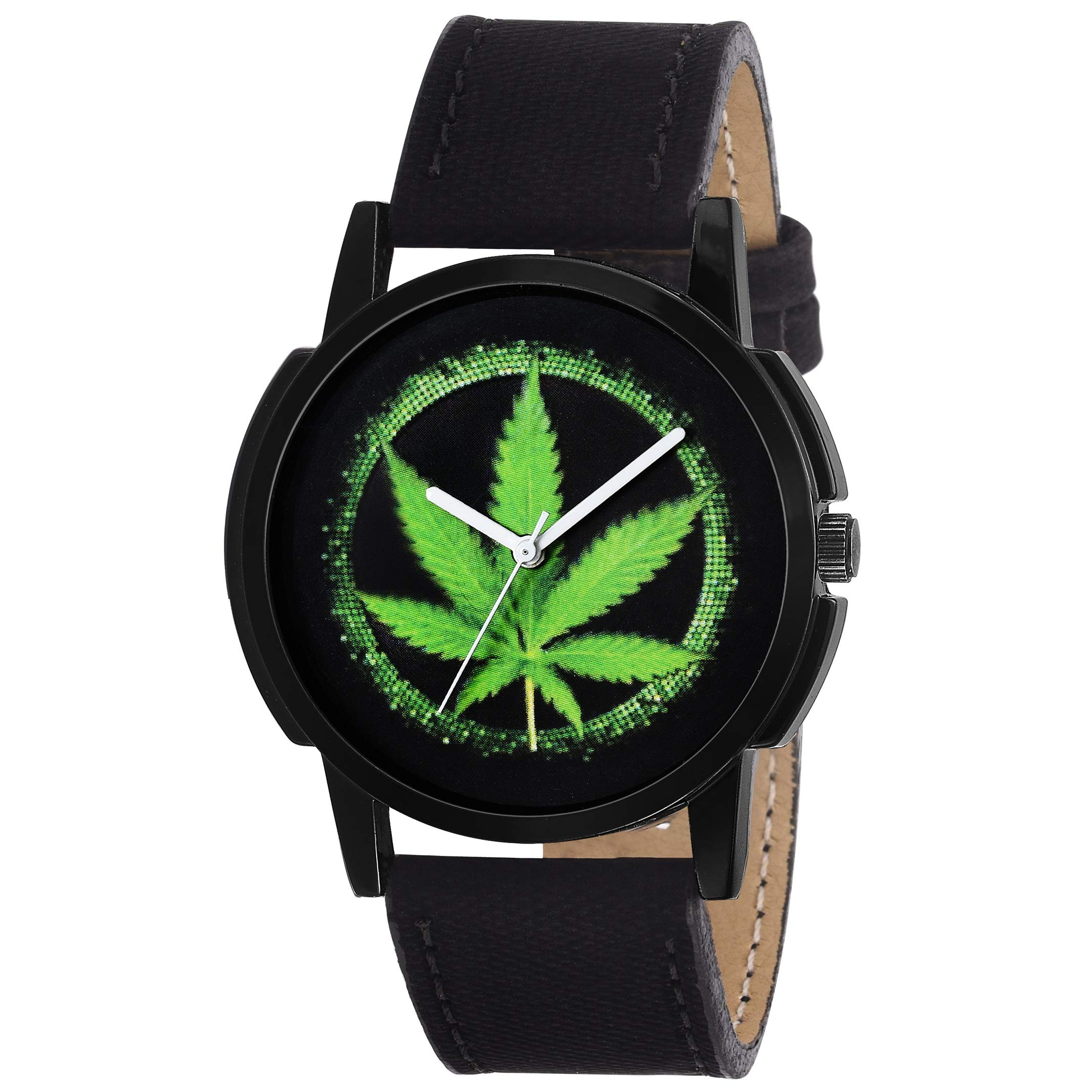 Amazon Price History for Timebre Men & Women Weed Love Analogue Black Dial Watch