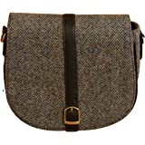 Blue Harris Tweed Shoulder Bag