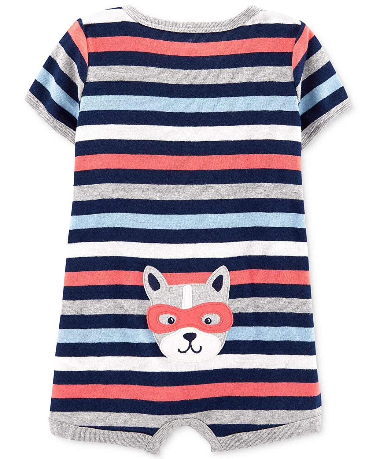 Navy Blue Multi Carters Baby Boys Striped Snap-Up Romper 24 Months