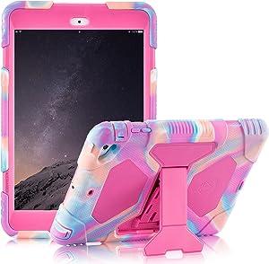 iPad Mini 1 2 3 Case Shockproof Case Ultra Slim Light Weight Stand Case for 7.9 Inch iPad Mini 1 iPad Mini 2 iPad Mini 3 (Pink)