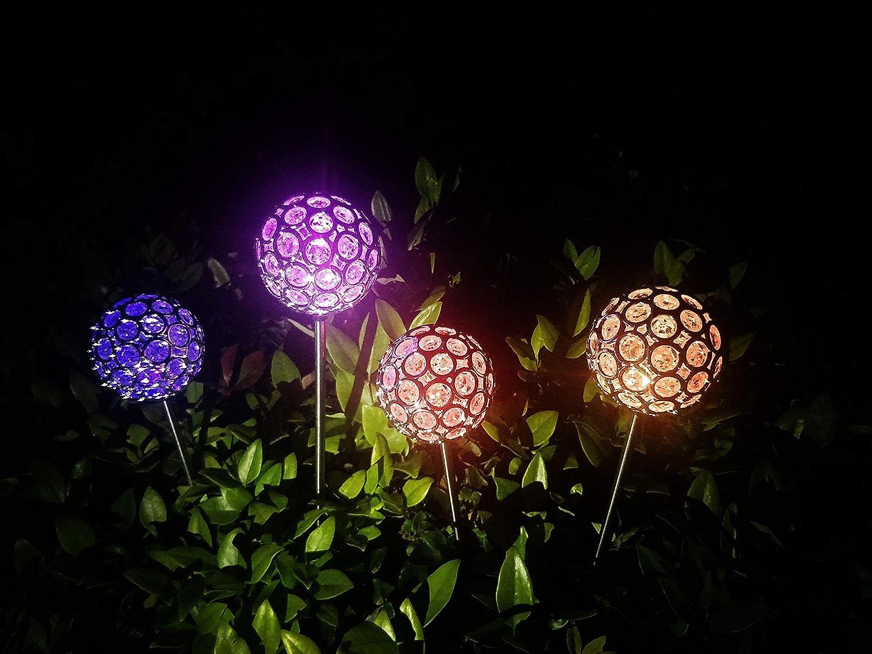 Solar Garden Decorations Yard Solar Lights For Outdoor Amazon Com