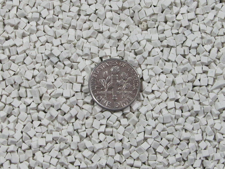 2 mm X 2 mm Polishing Triangles Non-Abrasive Ceramic Tumbling Tumbler Tumble Media 2 Lb