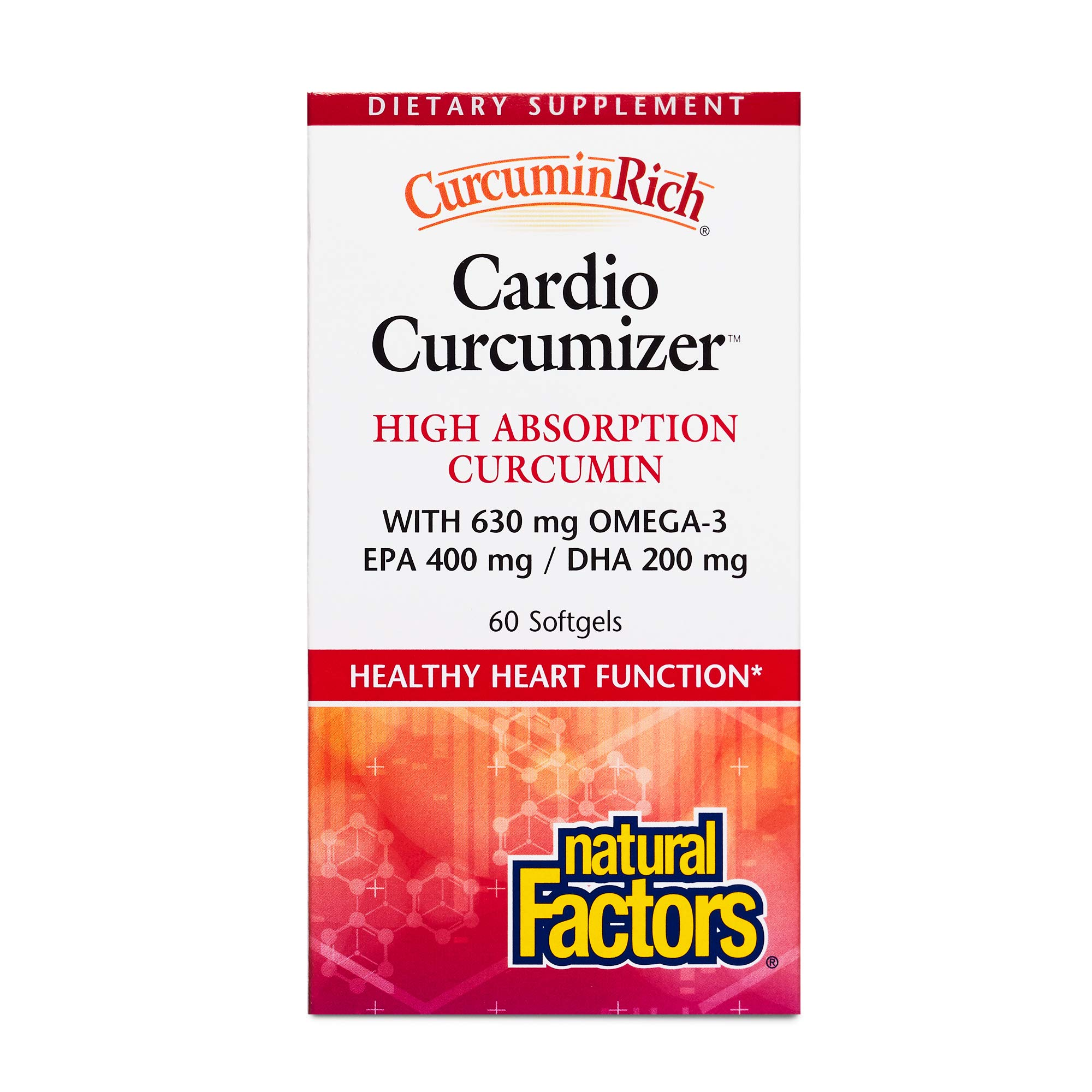 CurcuminRich by Natural Factors, Cardio Curcumizer, Supports a Healthy Heart, Joints and Natural Inflammatory Response with Omega-3 EPA and DHA, 60 softgels (60 Servings) by Natural Factors