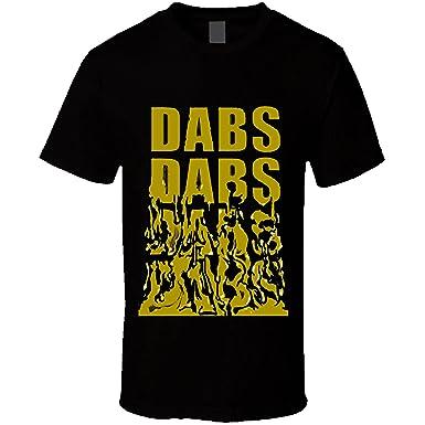 Dabs Dabs Dabs Cannabis Weed 420 Stoner Marijuana T Shirt (Small, Black)