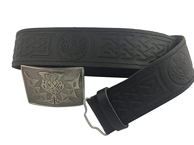 Glasgow Kilt Company - Cinturón - para hombre negro negro Small ...