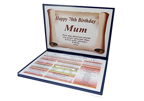 NWM Gifts SPECIAL 70TH BIRTHDAY GIFT 1949 THE DAY YOU WERE BORN
