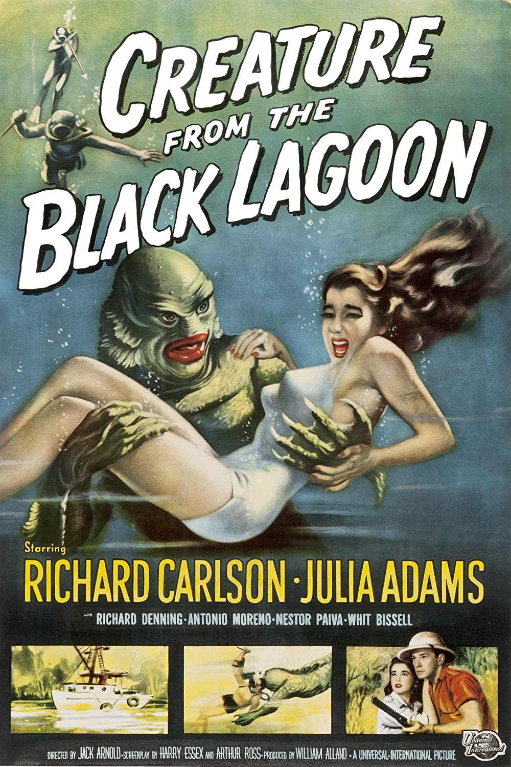 American Gift Services Creature From the Black Lagoon Vintage Movie Poster 18x24 inches