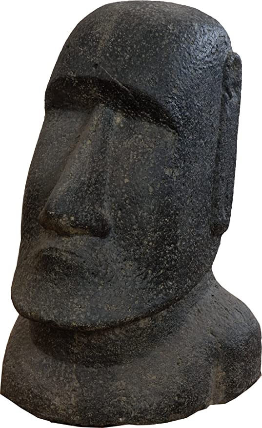 korb.outlet moái Cabeza de Piedra/Estatua de la Isla de Pascua 30 cm para casa y jardín: Amazon.es: Jardín
