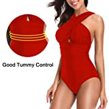 Womens One Piece Swimsuit Hight Waisted Tummy