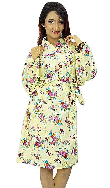 Kimono cruce del traje del algodón floral Batas novia Spa Conseguir boda Listo: Amazon.es: Ropa y accesorios