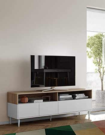 6 x 40 cm 180 x 60 Symbiosis 3150A5143A01 HORIZON Banc TV Ch/êne Clair