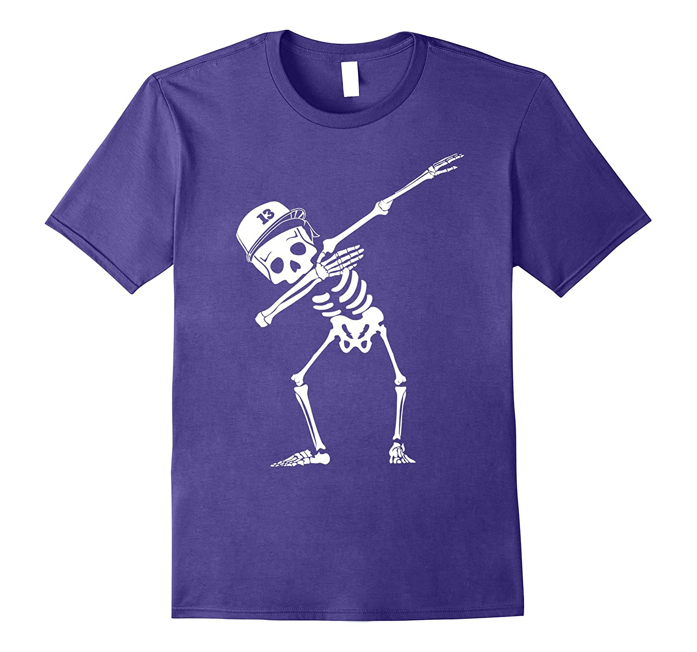 Dabbing White Skeleton Shirt Dab Skull Hip Hop Pose-TJ
