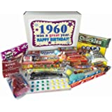 1960 57th Birthday Gift Box of Retro Nostalgic Candy for a 57 Year Old Man or Woman - Born in the '60s Jr